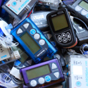 Image of many different insulin pumps